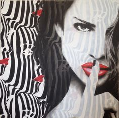 """That is my secret"" Artist: KRIS CIESLAK Acrylic on canvas 100cm x 100cm"