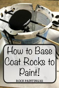 Base Coat Rocks to paint. Add a quick and inexpensive base coat to your rock painting. This method uses acrylic paint…. Base Coat Rocks to paint. Add a quick and inexpensive base coat to your rock painting. This method uses acrylic paint…. Rock Painting Patterns, Rock Painting Ideas Easy, Rock Painting Designs, Paint Designs, Rock Painting Supplies, Painting Tutorials, Pebble Painting, Pebble Art, Stone Painting
