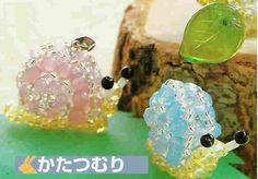 Crystal Beaded Snail - Beaded Jewelry Patterns 串珠蜗牛