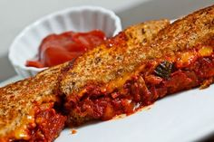 kimchi grilled cheese.. i can't imagine what this would taste like, but it could be good, sans bacon.
