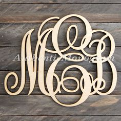 #Wooden #Monogram Wall Letters Unpainted - Home Decor Monogram -  Wedding Decor Monogram - #DoorHanger - Nursery Monogram by MonogramCustomArt on Etsy