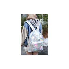 Bonito do remendo holo 3d impressão who cares sacos de escola de moda... ❤ liked on Polyvore featuring accessories, eyewear and sunglasses