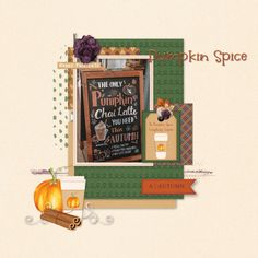 New release, on sale for a limited time, don't miss out! Layout created using November 2019 template challenge freebie by Craft-tastrophic and Pumpin Spice by Dandelion Dust Designs November 2019, Chai, Pumpkin Spice, Latte, Dandelion, Spices, Challenge, Layout, Templates