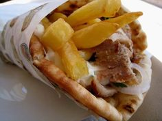 Art of souvlaki...Greek style gyros