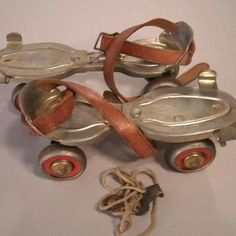 Roller skates with a key! I LOVED MY PAIR!!! Hours and Hours of fun skating out in the street and all our driveways :) YESTERYEARS ANTIQUES& COLLECTIBLES has got a pair!