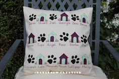 Paws and Kennels  a bespoke personalised cushion  www.facebook.com/babas.sew.creative