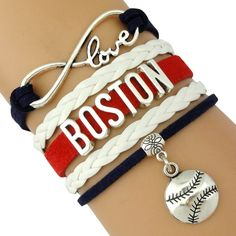 Boston Red Sox Bracelet, I want this!! Also comes in Patriots Colors too