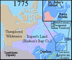 Map of Canada 1775 - Map of Canada 1775 - History Class, Us History, History Museum, Family History, Johns Island, Canadian History, Historical Maps, Early Childhood Education, Canada Travel