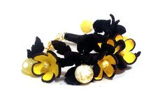 Statement bracelet with flowers and agate beads by julishland, $22.00