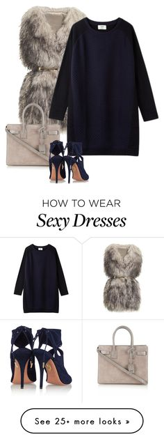 """""""Untitled #1057"""" by thesweetthread on Polyvore featuring Mode, PINGHE, Yves Saint Laurent und Aquazzura"""