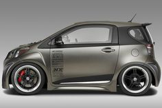 Toyota's has focussed its SEMA display around tuning and pimping its iQ luxury city car - four versions have been prepared and the vary from outrageous to beyond Toyota Cars, Toyota Hilux, Orion Car Audio, Scion Cars, Scion Xb, Microcar, Car Camper, Smart Fortwo, Old Classic Cars