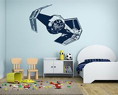 Amazon.com: ik2286 Wall Decal Sticker cool space spacecraft star wars living room bedroom: Handmade   @giftryapp