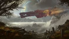 Requiem For A Lady by OliverInk on DeviantArt Halo Ships, Red Vs Blue, Gears Of War, Art Station, Character Description, Photo Manipulation, Pretty Cool, San Diego, Cool Pictures