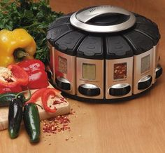 Spice Rack Carousel With Auto Measure