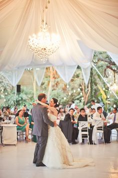 Love the height of this tent - Mexico Outdoor Wedding Reception {Orange Turtle}