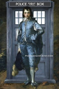 Doctor Who TARDIS Parody Print Gainsborough BLUE by ParodiesLost, $16.95