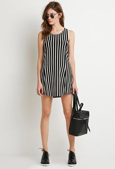 Striped Mini Dress | Forever 21 - 2049257399