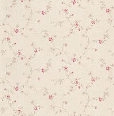 Fleurette (BTY6009 4098) - Caselio Wallpapers - A beautiful floral trail in a hand painted effect. Shown here in fuchsia pink and grey on a off white background - more colours are available. Please request a sample for true colour match. Paste-the-wall product.