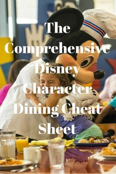 The Comprehensive Disney Character Dining Cheat Sheet All the characters times for meals! Disney Character Breakfast, Disney Character Dining, Walt Disney World Vacations, Disney Trips, Disney Travel, Family Vacations, Disney Cruise, Dining Plan Disney World, Disney World Planning