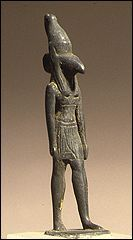Statue of Seth   He was the brother of Osiris and Isis, as well as the brother/husband of Nepthys. He murdered his brother Osiris, then battled with his nephew Horus to be the ruler of the living.  At certain times in the history of ancient Egypt, Seth was associated with royalty.