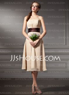 Bridesmaid Dresses - $94.99 - A-Line/Princess Sweetheart Tea-Length Chiffon Bridesmaid Dresses With Ruffle Sash (007000930) http://jjshouse.com/A-Line-Princess-Sweetheart-Tea-Length-Chiffon-Bridesmaid-Dresses-With-Ruffle-Sash-007000930-g930