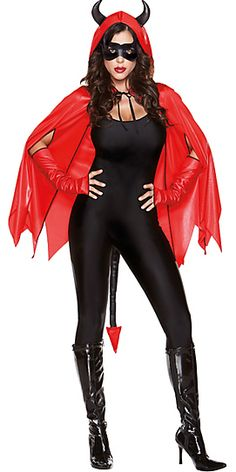 Shop for devil costume accessories to complete your look -- horns, pitchforks, tails, and more. Witches Costumes For Women, Halloween Costumes For Work, Halloween Costume Makeup, Halloween Ideas, Halloween Party, Halloween Accessories, Costume Accessories, Devil Costume, Stiletto Boots