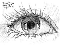Как нарисовать глаз карандашом 5