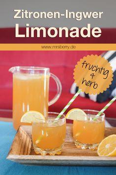Selbstgemachte Limonade: fruchtig & herb, Zitronen-Ingwer-Limonade | MrsBerry - Leben und Reisen mit Kind