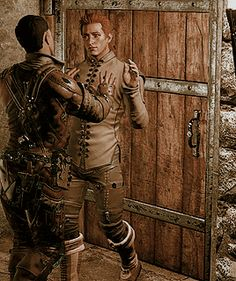 dorian x trevelyan - love how dorians just like uh huh okay darling just shut up and back up XD