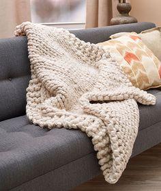 Wonderful Big Stitch Throw Free Knitting Pattern LW5365