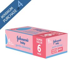 Johnson and Johnson Baby Wipes, 6x 56 Wipes