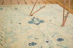 Vintage Distressed Oushak Rug