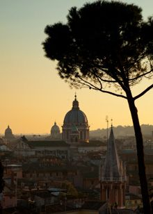 The view from the Villa Borghese in Rome.