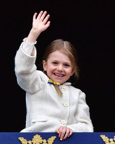 Little Princess Estelle, whose official title is Duchess of Östergötland, is second in line to the throne after her mother Crown Princess Victoria