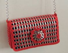 pop tab purse crochet pattern