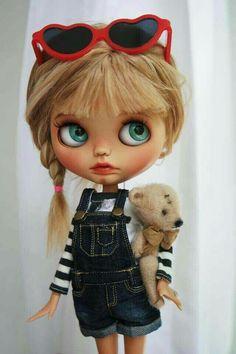 Image in Doll ❤ collection by ♡ on We Heart It Ooak Dolls, Blythe Dolls, Art Dolls, Creepy Dolls, Little Doll, Hello Dolly, Custom Dolls, Doll Face, Big Eyes