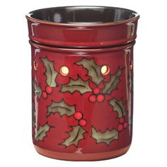 Merry Berry celebrates a delightful symbol of the winter holidays, red holly berries and festive green leaves, scattered across a simple cranberry base.