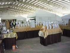 Double booth display in covered arena - my favorite.  No traffic problems, easy flow & lots of display room.