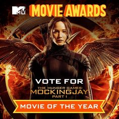 "@thehungergames's photo: ""Show your support for @TheHungerGames: #Mockingjay Part 1 by casting your vote to make it @MTV #MovieAwards Movie of the Year! (Link in bio!) Watch the ceremony Sunday at 8/7c."""