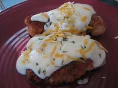 Chicken Breasts With Cheese Sauce