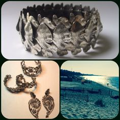 New shiny silver accessories have washed up to the shores of Bonnie Roseman's BLT Boutique. Did we mention this bracelet stretches to fit any wrist? Schedule a showing to pick first from Bonnie's new trove of treasures: bonnie@bonnieroseman.com.