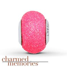Charmed Memories® Neon Murano Glass Charm Sterling Silver