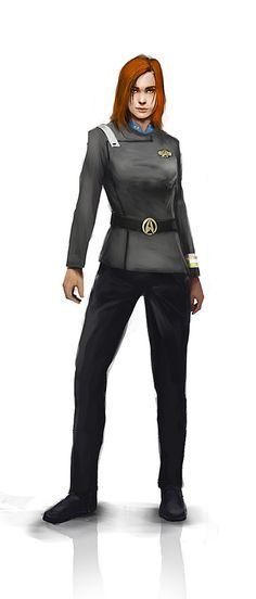 Lieutenant Beverly Crusher concept art for Star Trek Futures. Artist unknown.