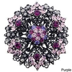 Amethyst Purple Flower Wedding Pin Brooch and Pendant - Overstock™ Shopping - Big Discounts on Brooches & Pins