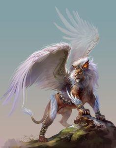 Winged Lion by *yuchenghong on deviantART