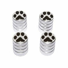 Paw Print - Tire Wheel Rim Valve Stem Caps - Aluminum: Amazon.ca: Automotive
