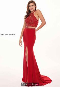 2a3c765c733 Rachel Allan Beaded Two Piece Dress 6641