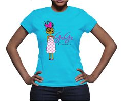 GeGe Couture Spring TeeAA Classic tee, in vibrant spring colors with the signature GeGe Couture logo on the frontMint: S - XXLTeal: S - XXLSunshine S - XL