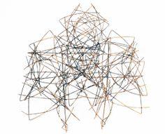 Runa Vethal Stølen Piece: Fractus series, 2012 Goldplated steelwire 13x13x4 cm