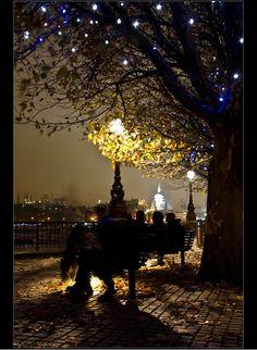 Evening Lights in London  www.languageandthecity.com